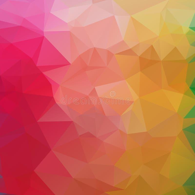 Abstraktes des Hintergrundes strukturiertes Polydreieck niedrig formt in gelegentliches lizenzfreie abbildung