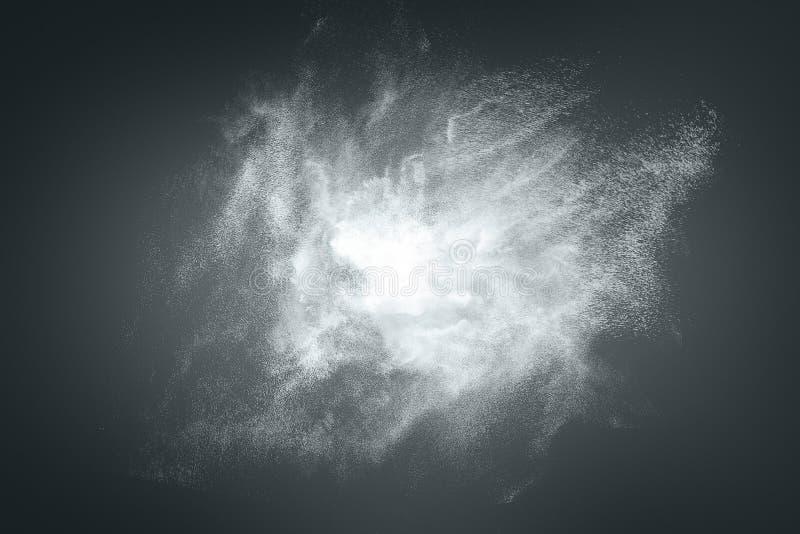 Abstraktes Design der weißen Pulverwolke stockbild