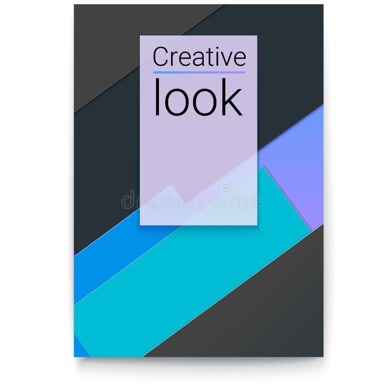 Abstraktes Design mit multi farbigen Papierschichten Vektorabdeckungsdesign, Plan mit herausgeschnittenen Papierformen Plakat mit lizenzfreie abbildung