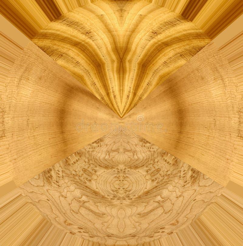 Abstraktes Design mit Satinholz, Fichte und Vögel mustern Ahornholz lizenzfreie abbildung