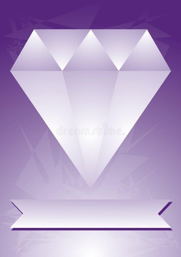 Abstraktes Diamantplakat stockbilder