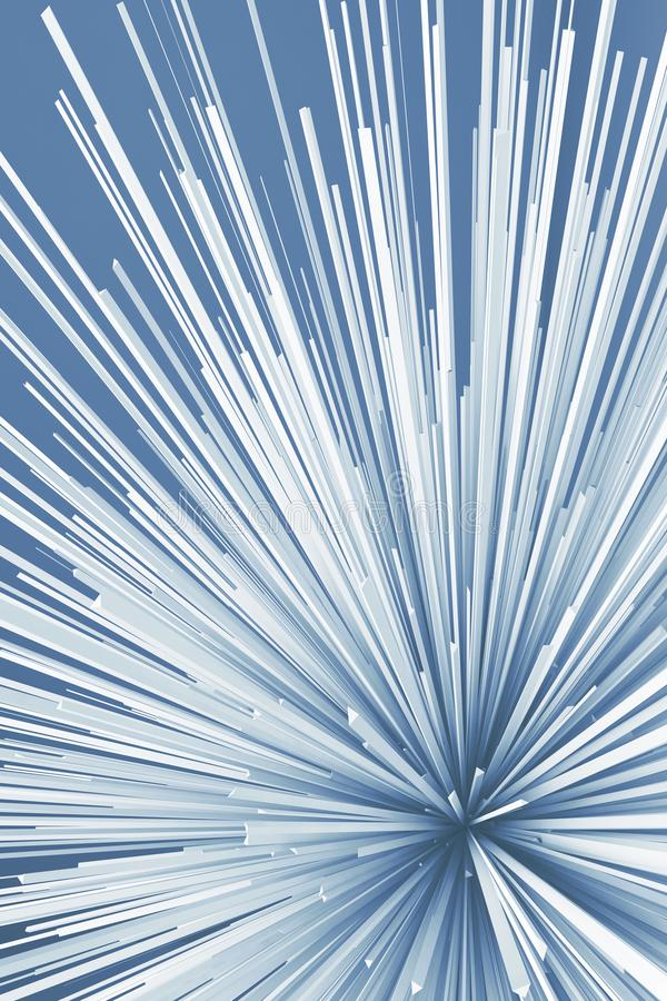 Abstraktes digitales Explosionsmuster Blau getont vektor abbildung