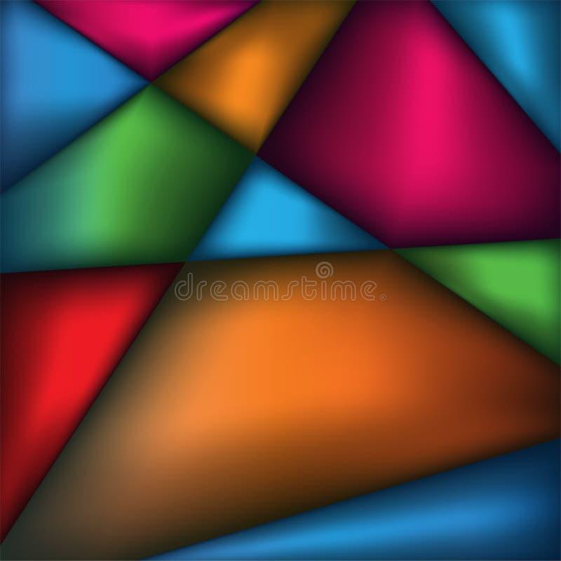 Abstraktes Dreieck färbt Hintergrund-Illustration lizenzfreie stockfotografie