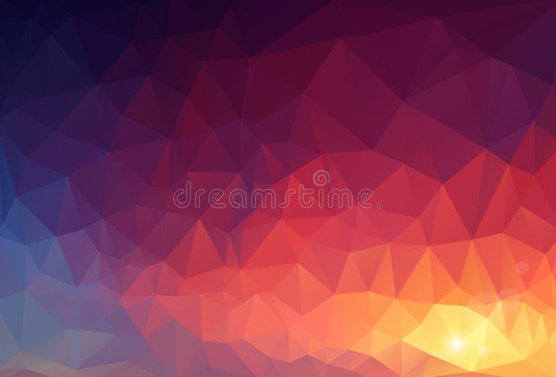 Abstraktes Dreieck-geometrischer Hintergrund lizenzfreie abbildung
