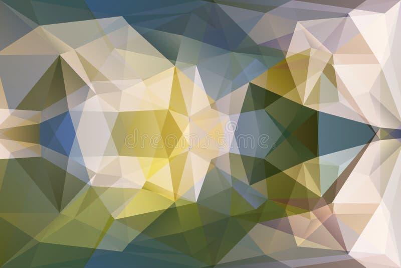 Abstraktes Dreieck-geometrischer mehrfarbiger Hintergrund lizenzfreie abbildung