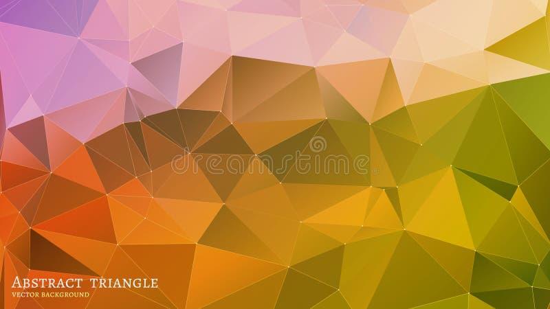 Abstraktes Dreieck-geometrischer mehrfarbiger Hintergrund vektor abbildung