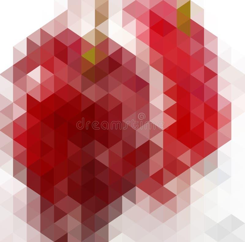 Abstraktes Dreieck-geometrischer mehrfarbiger Hintergrund, Vektor-Illustration EPS10 vektor abbildung