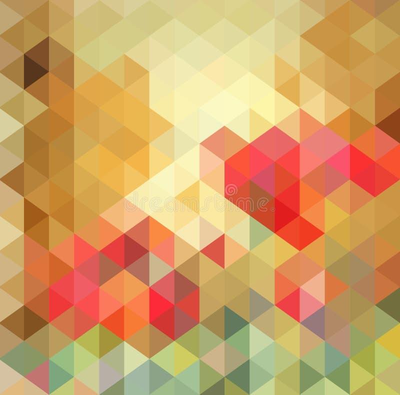 Abstraktes Dreieck-geometrischer mehrfarbiger Hintergrund, Vektor-Illustration EPS10 lizenzfreie abbildung