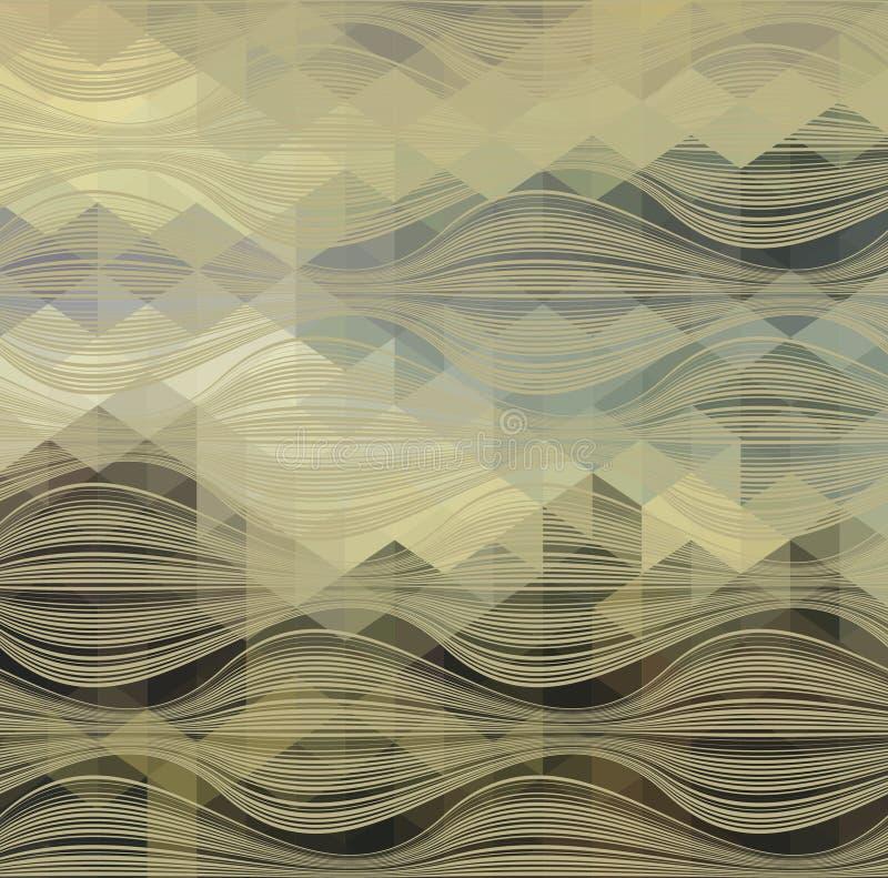 Abstraktes Dreieck-geometrischer mehrfarbiger Hintergrund, Vektor-Illustration EPS10 stock abbildung