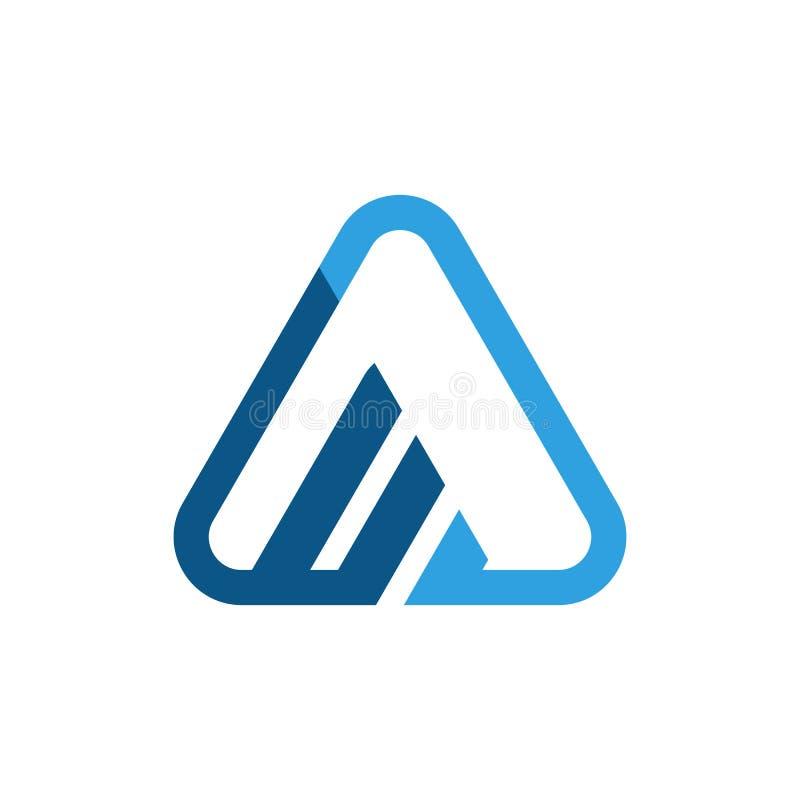 Abstraktes Dreieckgeschäfts-Finanzlogo stockfoto
