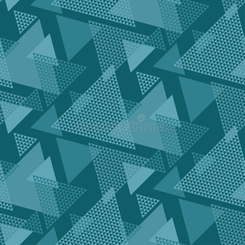 Abstraktes Dreieckmotiv blaues Marinedesi des Farbabstrakten begriffs vektor abbildung