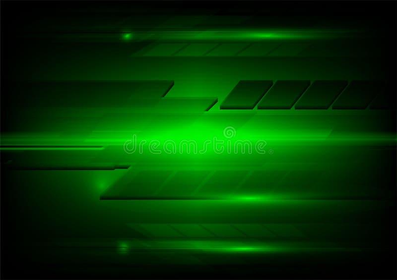 Abstraktes dunkelgrünes und helles Technologiedesign Helles Muster lizenzfreie abbildung