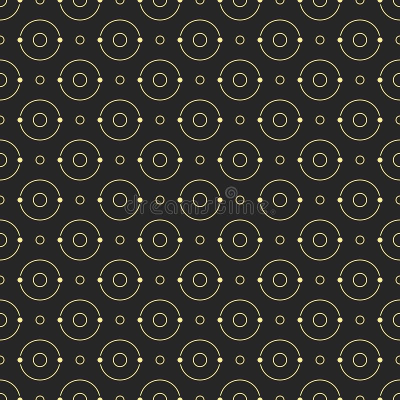 Abstraktes einfaches Muster mit Kreisen stock abbildung