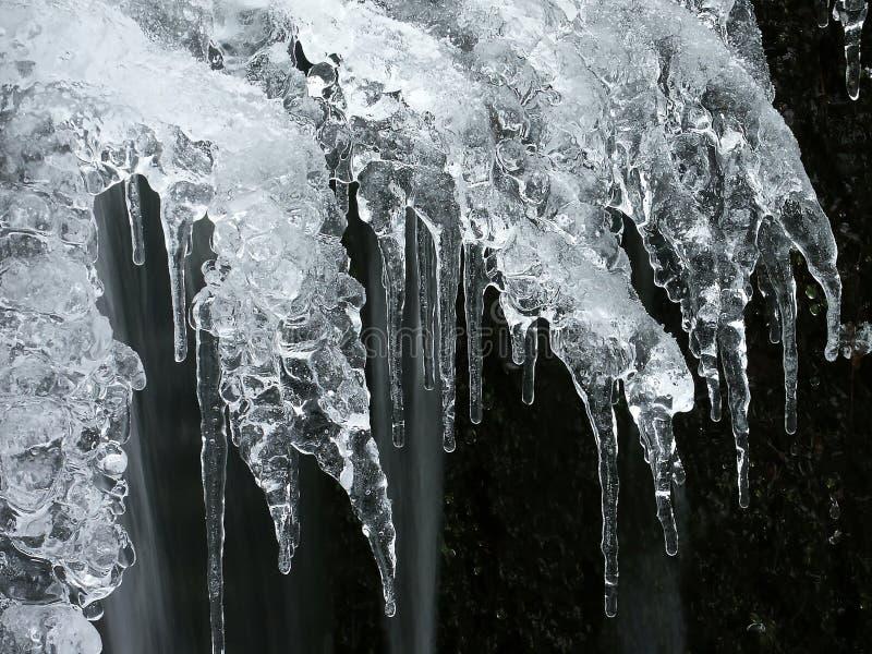 abstraktes Eisformular im Winter stockbild