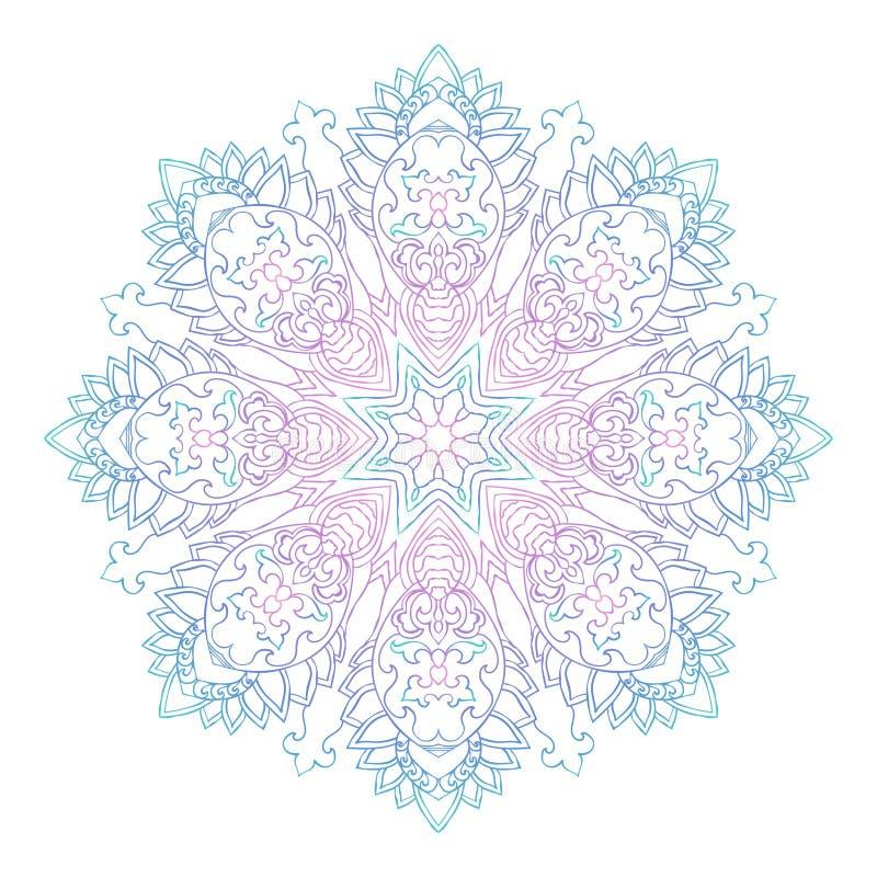 Abstraktes Ethnisches Farbiges Mandala Ornamentalmuster Einzigartige ...