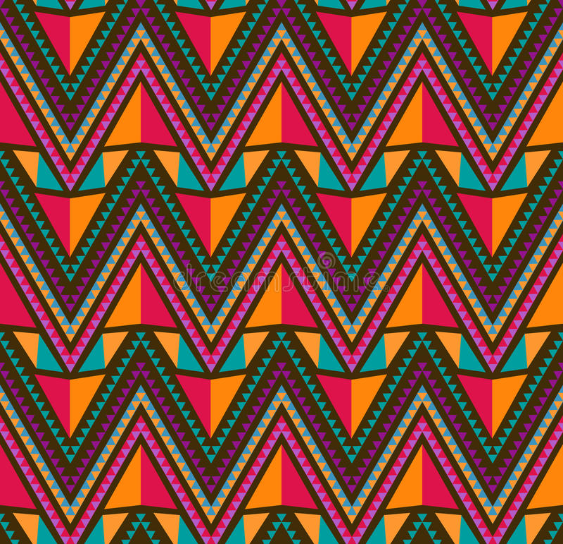 Abstraktes ethnisches nahtloses geometrisches Muster vektor abbildung