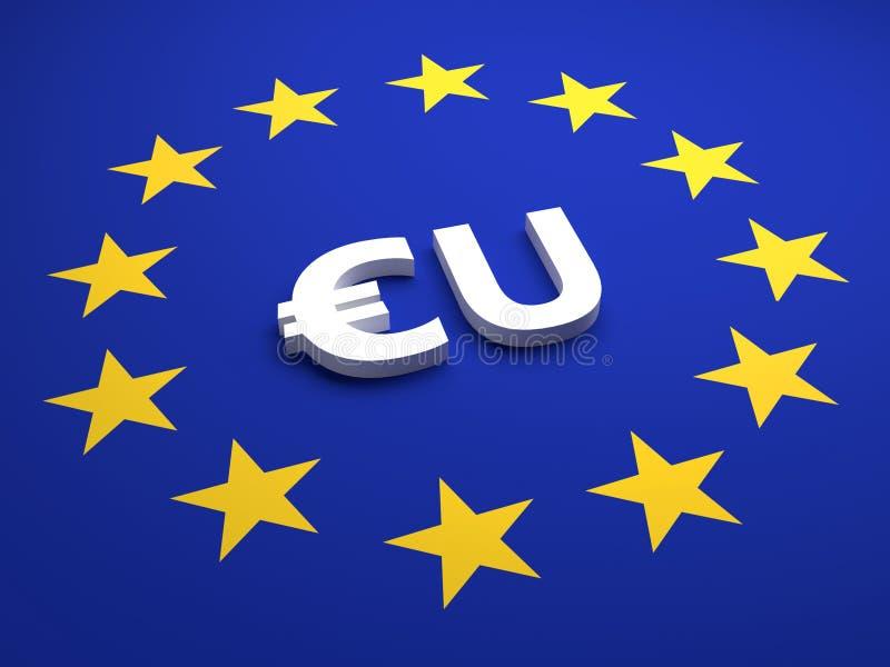 Abstraktes Eurosymbol für Finanzsektor - Illustration vektor abbildung