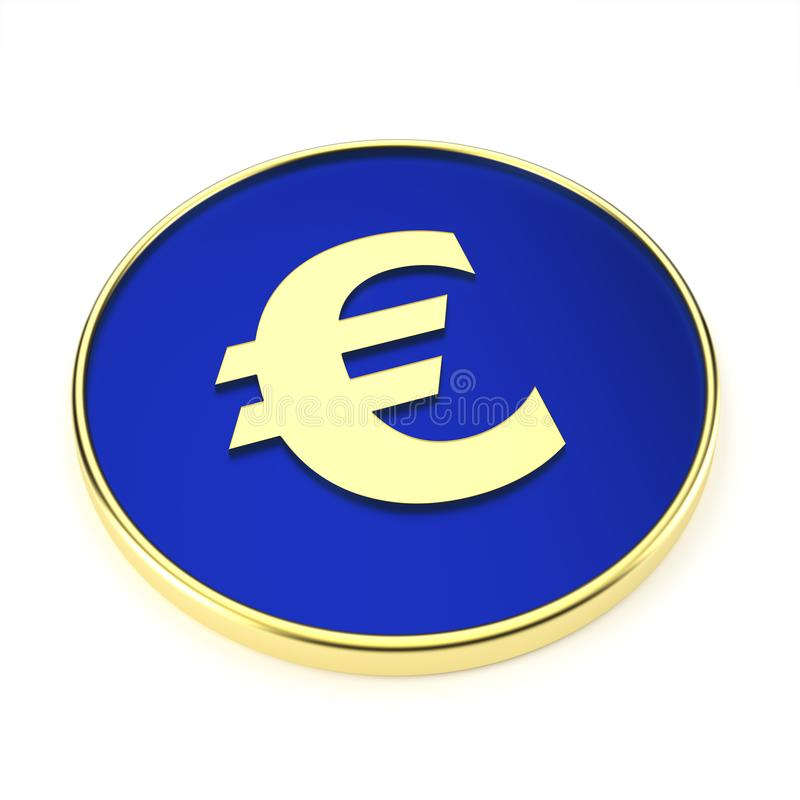 Abstraktes Eurosymbol für Finanzsektor - Illustration stock abbildung