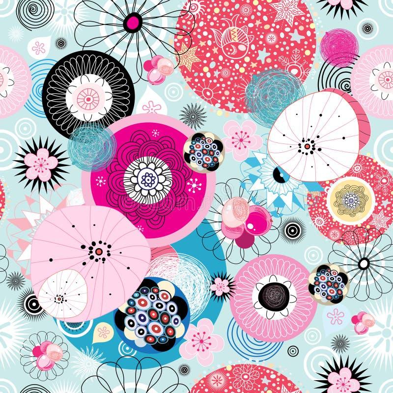 Abstraktes fantastisches helles farbiges Muster vektor abbildung