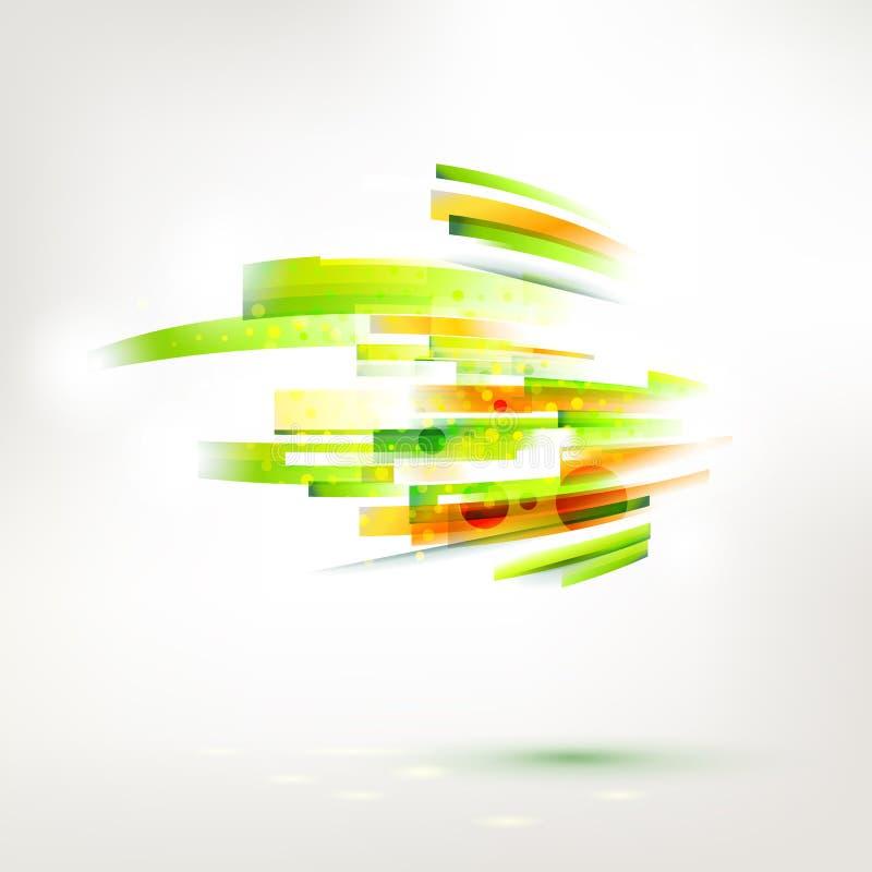 Abstraktes Farbwellenelement, lebende Zeilendarstellung stock abbildung