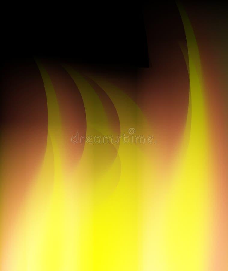 Abstraktes Feuer flammt Hintergrund lizenzfreie abbildung