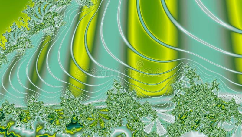 Abstraktes Fractal Turbulenz-Design mit buntem Hintergrund lizenzfreie abbildung