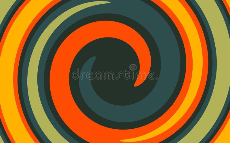 Abstraktes Funnel-Muster wirl, spiralförmig, mehrfarbig als Hintergrund vektor abbildung