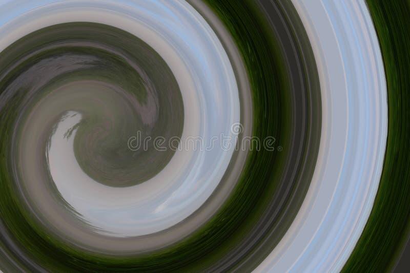 Abstraktes Funnel-Muster wirl, spiralförmig, mehrfarbig als Hintergrund stockfoto