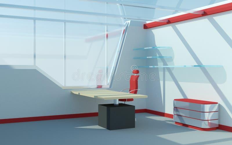 Abstraktes futuristisches Büro stock abbildung