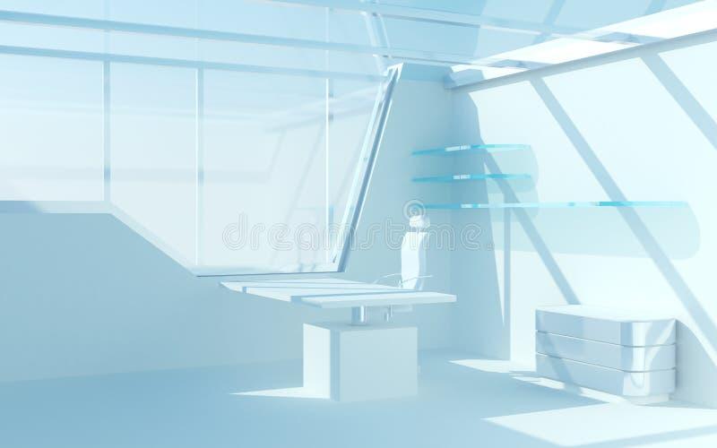 Abstraktes futuristisches Büro lizenzfreie abbildung