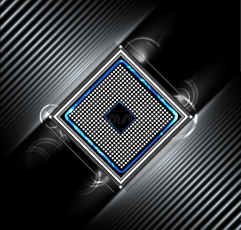 Abstraktes futuristisches Stromkreiscomputerinternet-Technologiegeschäft vektor abbildung