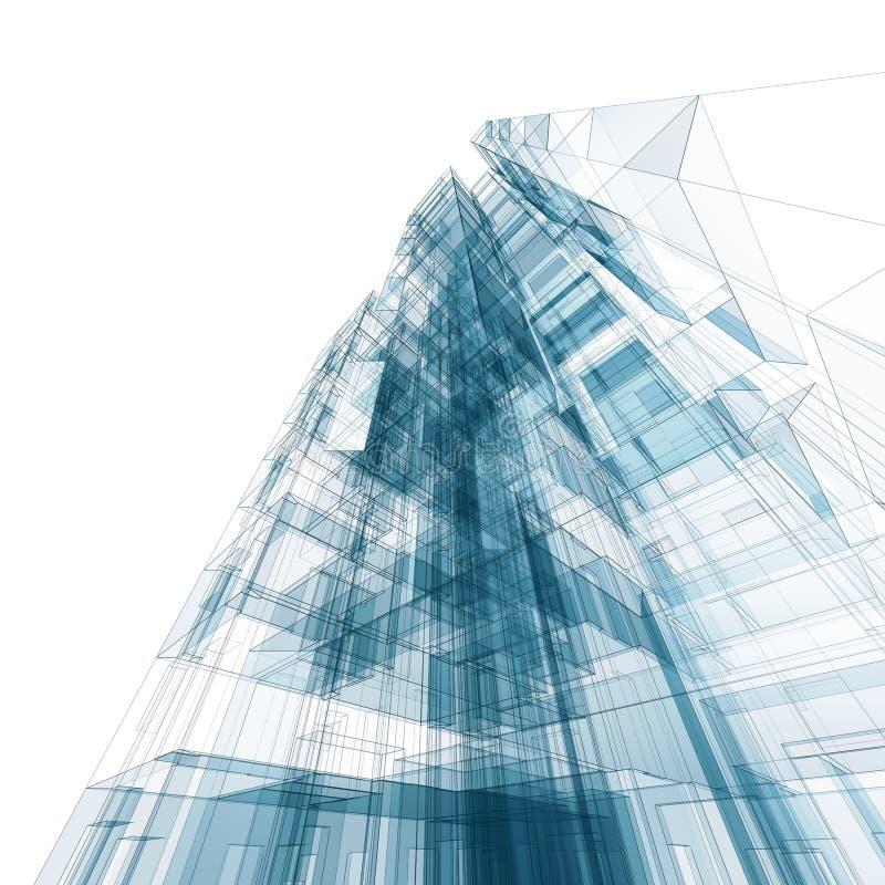 Abstraktes Gebäude lizenzfreie abbildung
