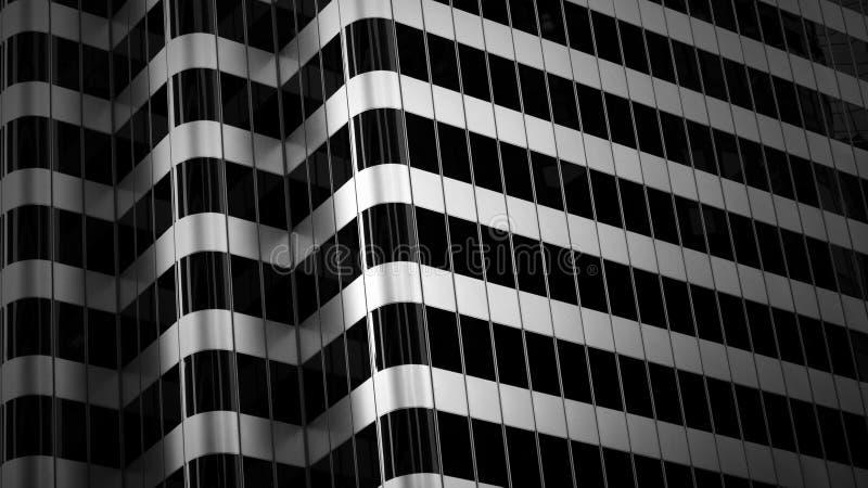 Abstraktes Gebäude stockbild
