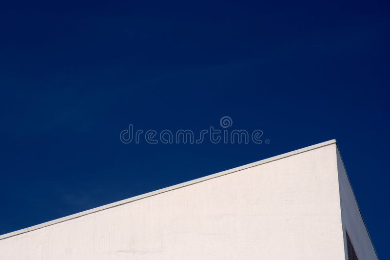 Abstraktes Gebäude (Ausschnittspfad eingeschlossen) stockfoto