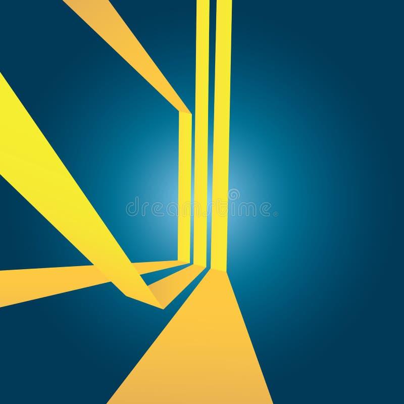 Abstraktes Gelb Stripes Plan lizenzfreie abbildung
