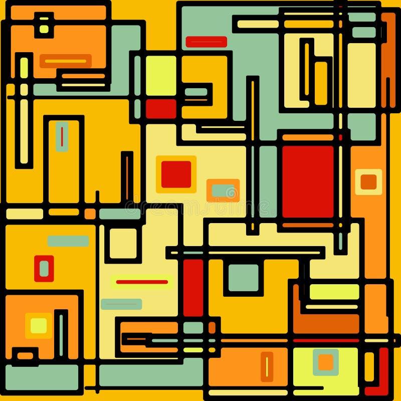 Abstraktes geometrisches buntes vektormuster. ENV 8 stock abbildung