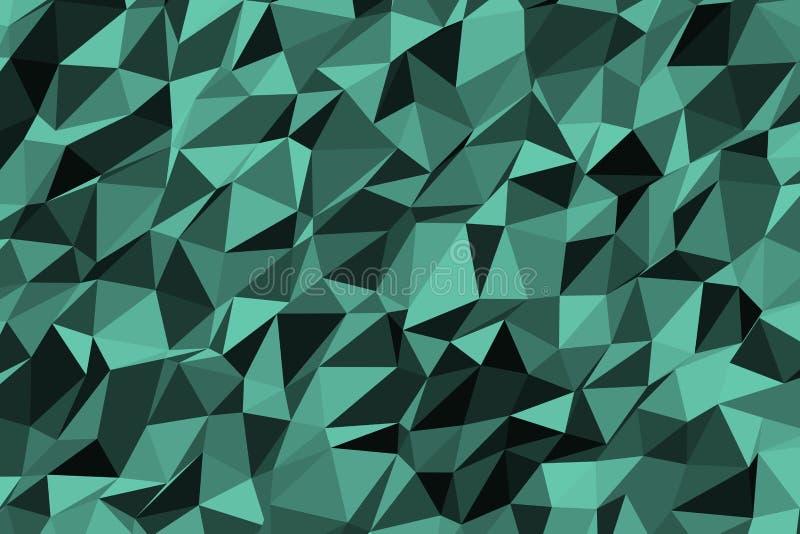 Abstraktes geometrisches Dreieckstreifenmuster, bunt u. künstlerisch für Grafikdesign Hintergrund, Segeltuch, Art u. Hintergrund vektor abbildung