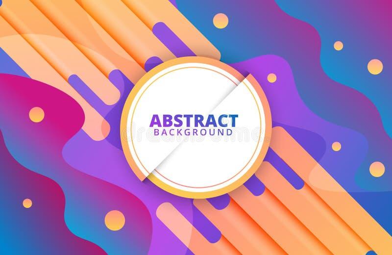 Abstraktes geometrisches Dynamische Formzusammensetzung Hintergrund-Schablone stock abbildung