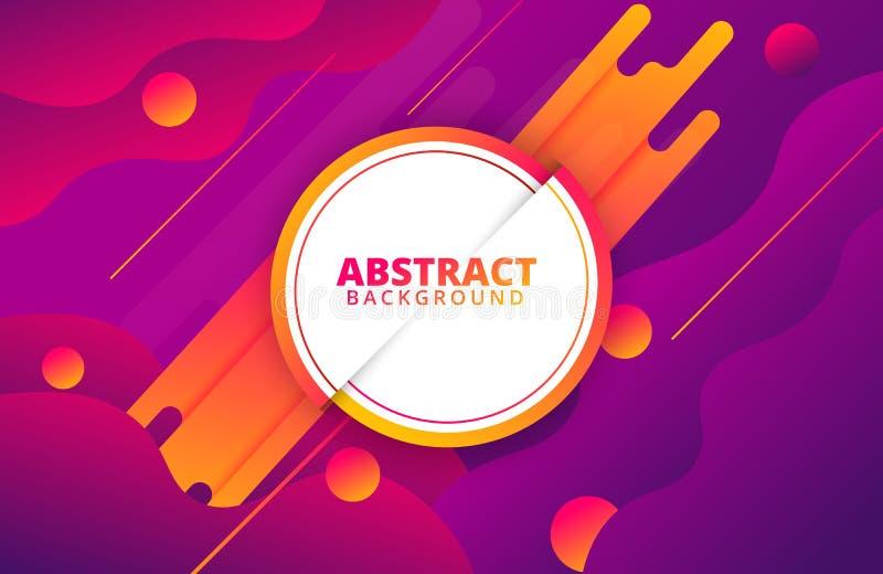 Abstraktes geometrisches Dynamische Formzusammensetzung lizenzfreie abbildung