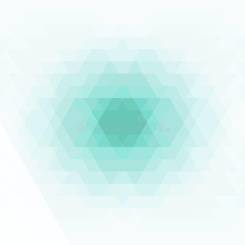 Abstraktes geometrisches Geometrische Formen in der grünen, blauen, grauen Farbe lizenzfreie abbildung