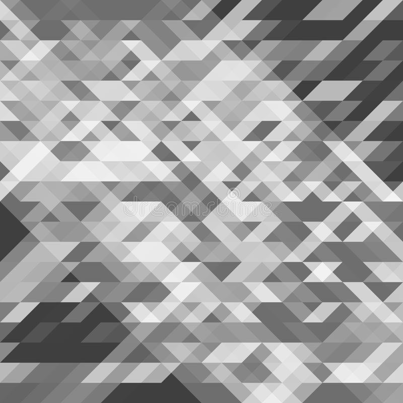 Abstraktes geometrisches Geometrische Formen des Grayscale Futuristisches Polygonmuster stock abbildung
