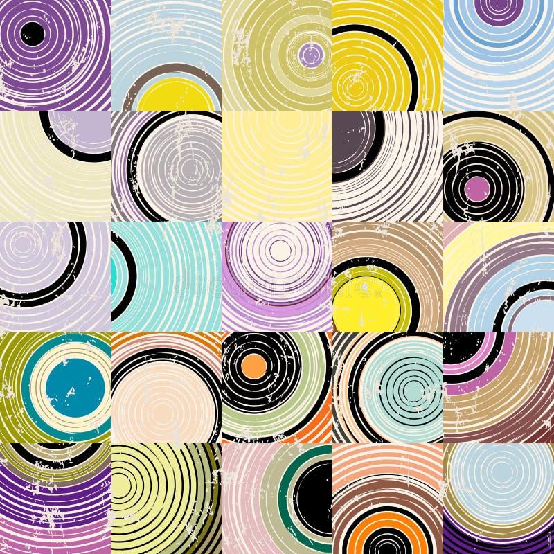 Abstraktes geometrisches Hintergrundmuster, stock abbildung