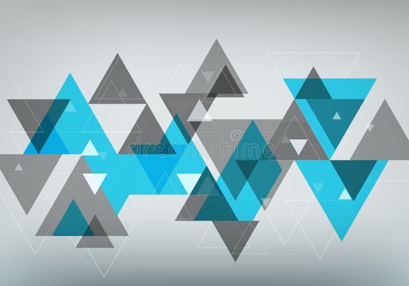 Abstraktes geometrisches Modische Überschneidungsdreiecke Auch im corel abgehobenen Betrag stock abbildung