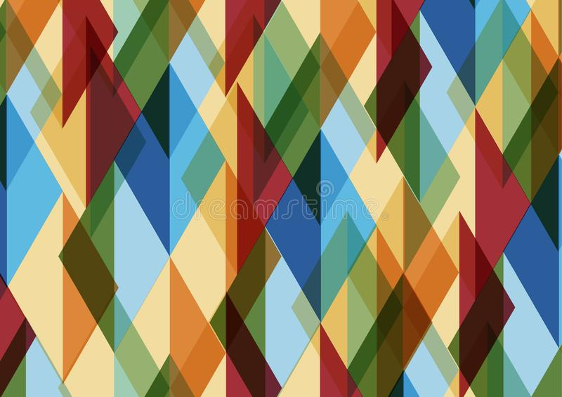 Abstraktes geometrisches Mosaik Muster mit Dreiecken Taube als Symbol der Liebe, pease stock abbildung