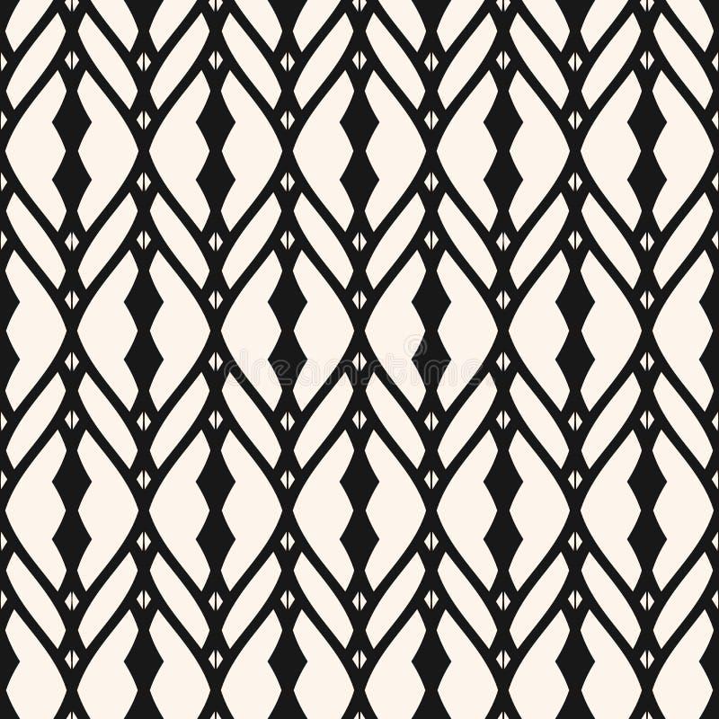 Abstraktes geometrisches Muster Beschaffenheit mit Gitter, Gitter, Masche, Spitze, Gitter, Zaun, Netz lizenzfreie abbildung