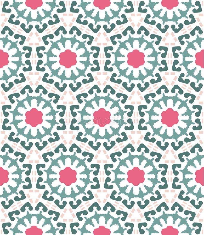 Abstraktes geometrisches Muster, Blumenhintergrund vektor abbildung