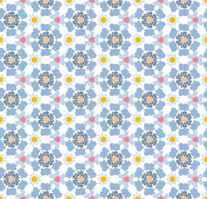 Abstraktes geometrisches Muster, Blumenhintergrund stock abbildung