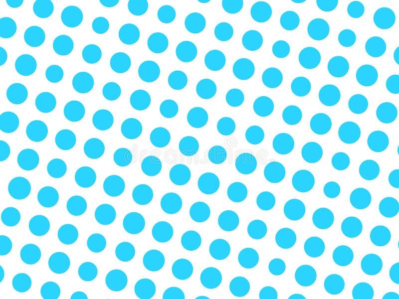 Abstraktes geometrisches Muster des blauen Kreises punktiert in den verschiedenen Größen auf weißem Hintergrund Modernes stilvoll lizenzfreie abbildung