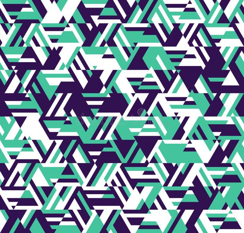 Abstraktes geometrisches Muster Ein Kaleidoskop von Linien und von Dreiecken vektor abbildung