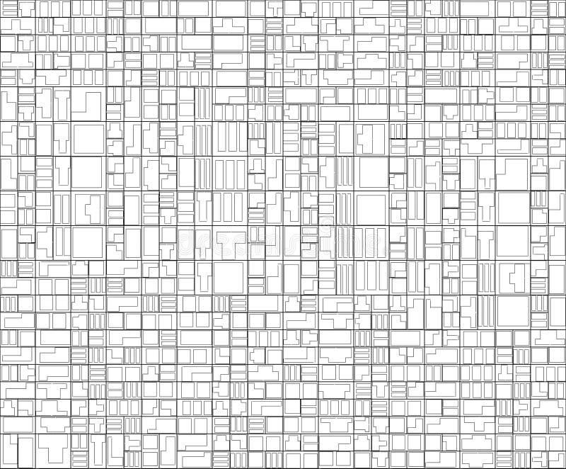 Abstraktes geometrisches Muster Hightech- Struktur lizenzfreie abbildung